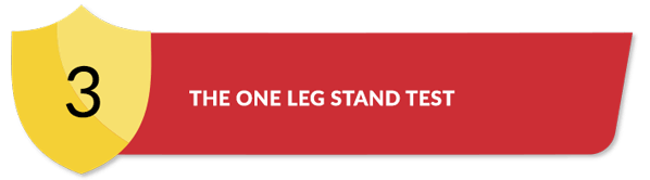 Title for The One Leg Stand Test Section